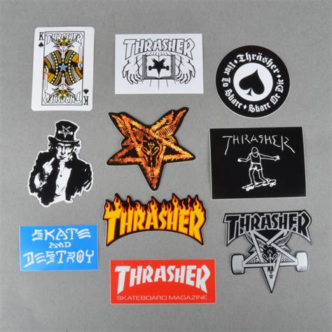 Kaos Thrasher Free Sticker 1 thrasher thrasher sticker pack thrasher from