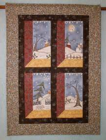 Quilted Wall Hangings Snowman Wall Hanging Winter Wall Quilt By Redneedlequilts