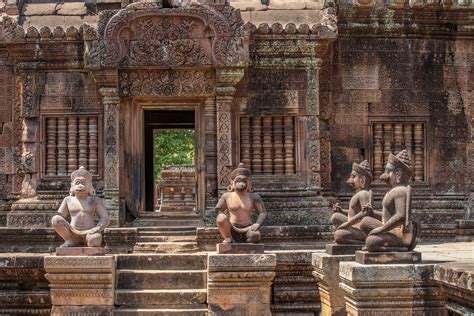 stock photo  angkor wat asia banteay srei