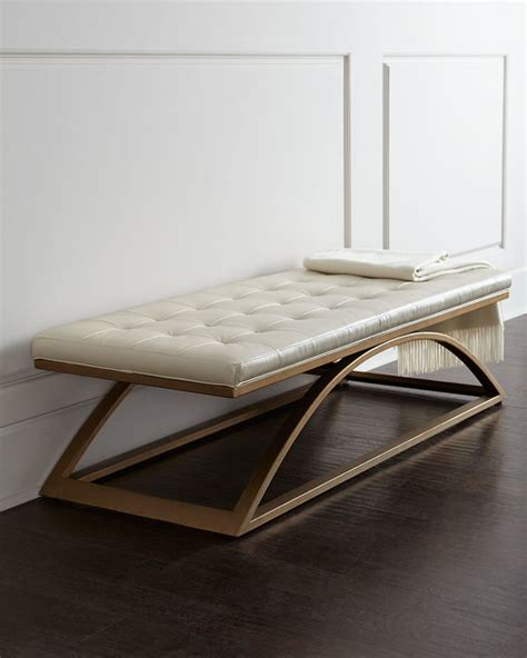 contemporary benches indoor span bench white brass contemporary indoor benches