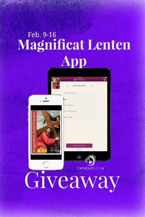 Giveaway App - giveaway magnificat lenten app for ios catholicmom com celebrating catholic