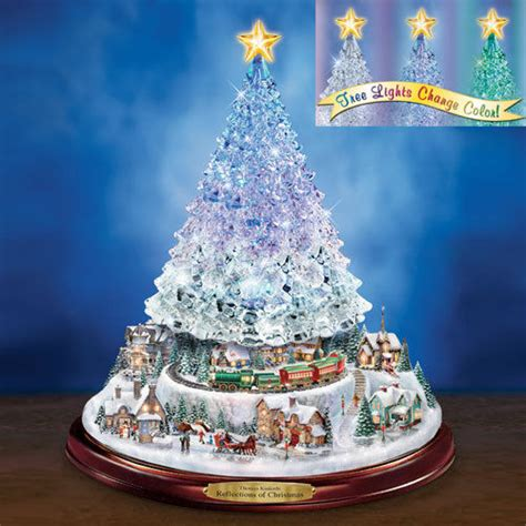 reflections of christmas tree thomas kinkade figurine