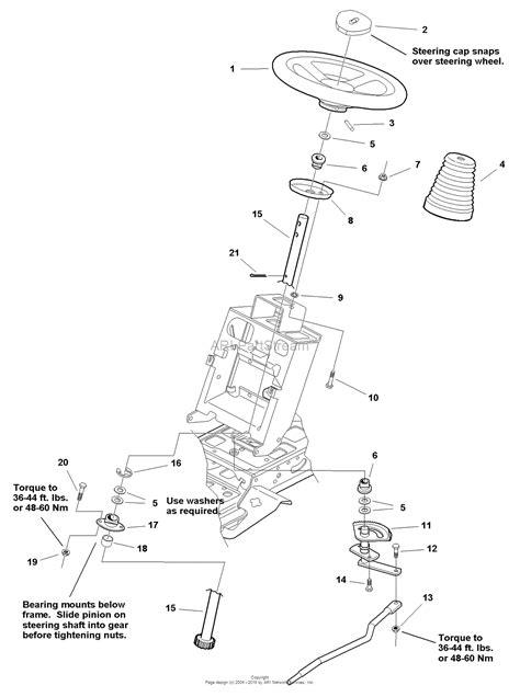 snapper parts diagram snapper 1694368 2690067 yt1644 44 quot 16 hp hydro drive