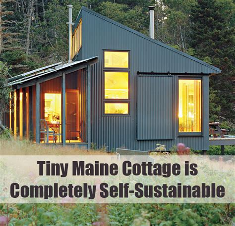 house tour a diy self sustainable micro cabin in cali tiny maine cottage is completely self sustainable