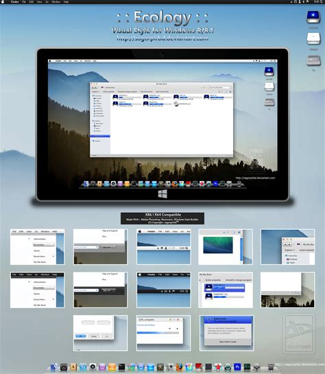 visual themes for windows 8 1 ecology for win 8 8 1 final by sagorpirbd on deviantart