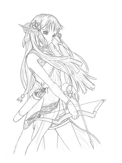 anime elf coloring pages anime elf girl coloring pages pictures to pin on pinterest