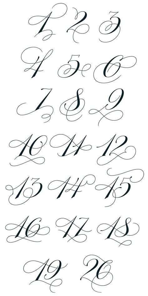 number tattoo fonts best 25 number fonts ideas on number