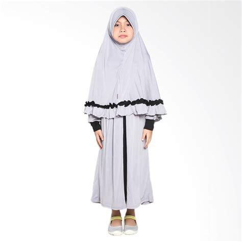 Syari Anak Abu Sw Baju Muslim Anak Perempuan Jersey Abu Abu jual allev raisha baju muslim anak abu hitam harga kualitas terjamin blibli