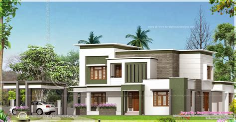 contemporary home plan in 2760 square home kerala plans