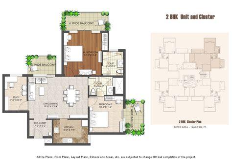 Admin Building Floor Plan spaze privy at4 2bhk unit cluster plan big utopia consulting