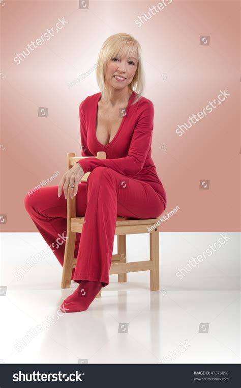 Small Sitting Chairs A Smiling Wearing Pilates Clothing Is