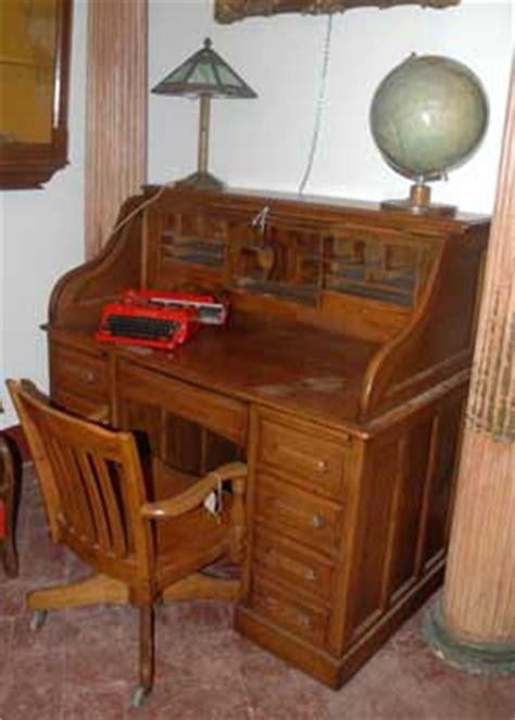 scrivanie antiche usate scrivania a rullo in legno di rovere antiquariato