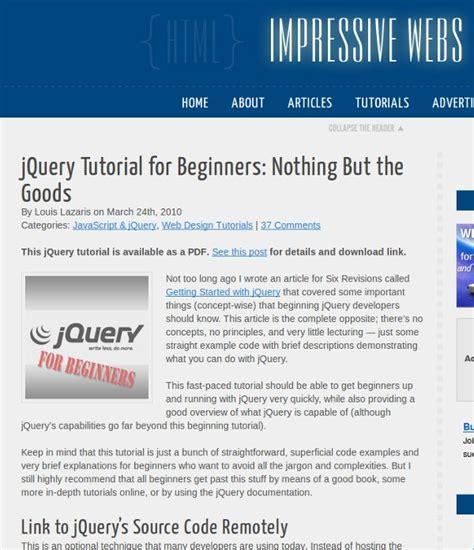 jquery tutorial with exles for beginners 17 super tutoriais jquery webmaster pt