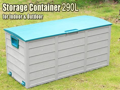 Patio Storage Container by 290l Outdoor Storage Container Box Sales We
