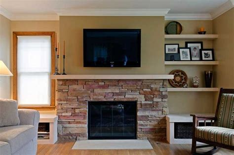 half wall fireplace makeover ideas for m d s