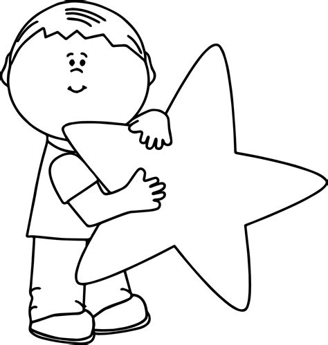 coloring pages with child s name child and happy star coloring page wecoloringpage