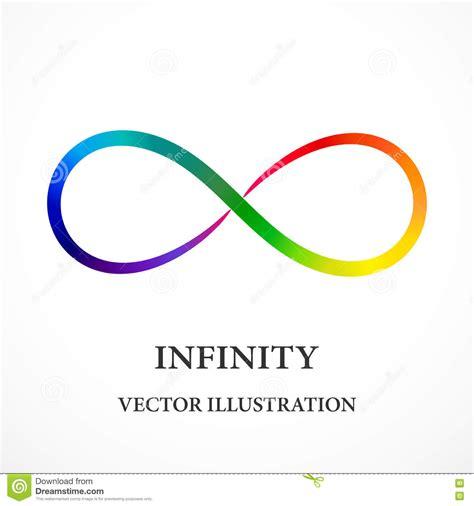 tutorial vector infinite design contour rainbow infinity symbol stock vector image 79612436