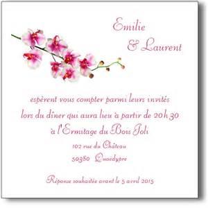Exemple De Lettre De Remerciement Invitation Mariage Carte Orchid 233 E Invitation Mariage Coordonn 233 E Au Faire Part