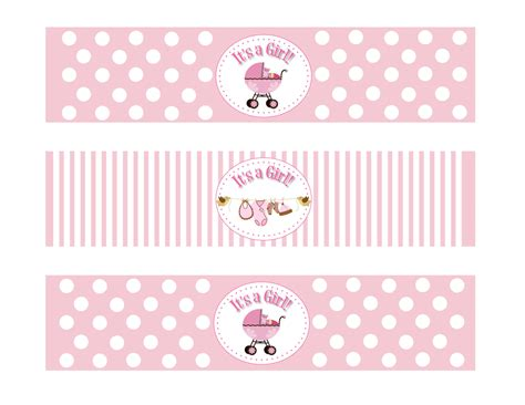 baby shower labels templates water bottles p wall decal