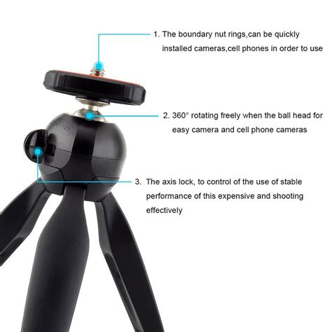 Mini Tripod Ab Holder 5375 yunteng yt 228 mini tripod portable stand phone
