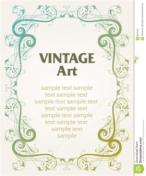 vintage templates for word 13 free vintage border templates images vintage