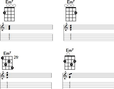 em7 guitar chord diagram em7 banjo chord