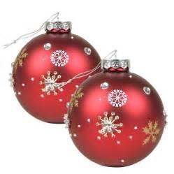 weihnachtsbaum kugeln weihnachtsbaumkugeln crystals rot 9cm 2er set eur 4 98