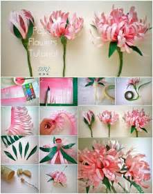 How To Make Paper Flowers - wonderful diy swirly paper flowers