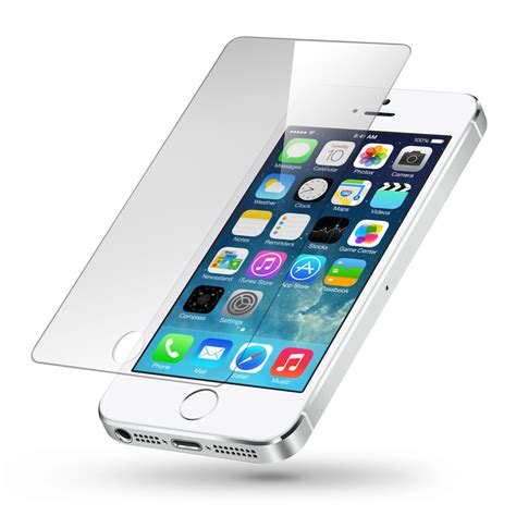 Tempered Glass Iphone 5 premium tempered glass screen protector for iphone 5 5s ebay