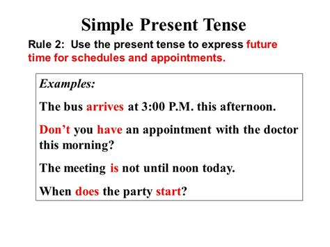 present tense sentence pattern parts of speech part 4 verb tenses ppt video online