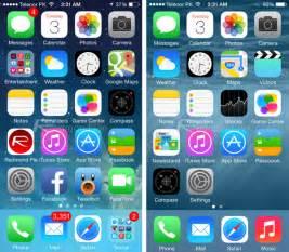 home screen udidguru ios 8 beta vs ios 7 visual comparison 2