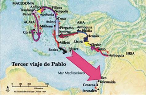 cuarto viaje misionero de pablo mapa viajes de pablo sabinavarisco