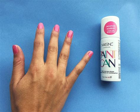 spray painting your nails spray on nail tutorial to your manicure