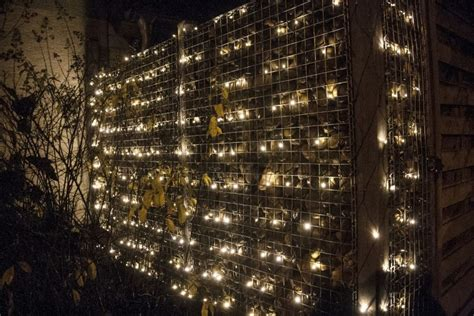 beleuchtete gabionen steink 246 rbe im garten beleuchten 5 dekorationsideen f 252 r