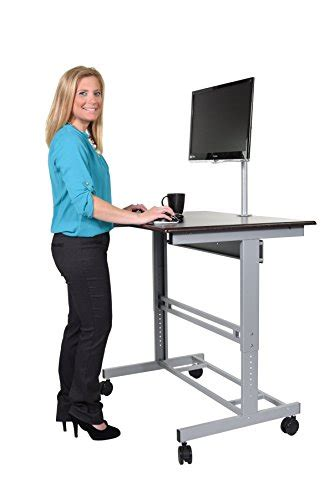 40 Mobile Adjustable Height Stand Up Desk With Monitor Buy Stand Up Desk