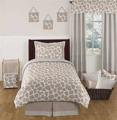 giraffe comforter set 3 piece full queen size by sweet