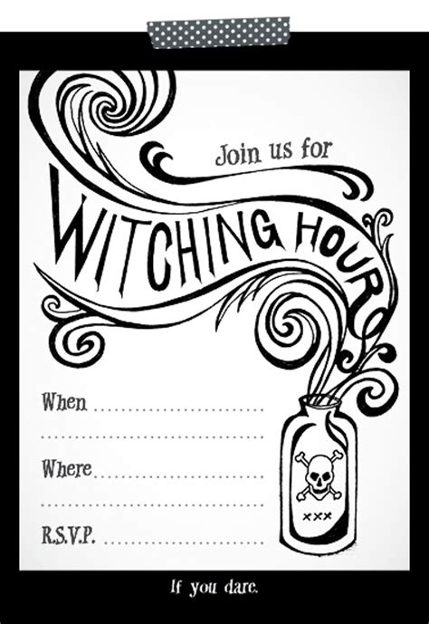 printable halloween invitations to color free printable halloween party invite hennel paper co