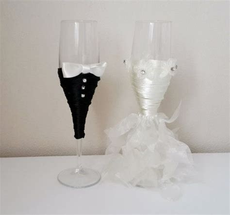 Tom Wedding Spectacle bridal shower gift and groom wine glasses wedding
