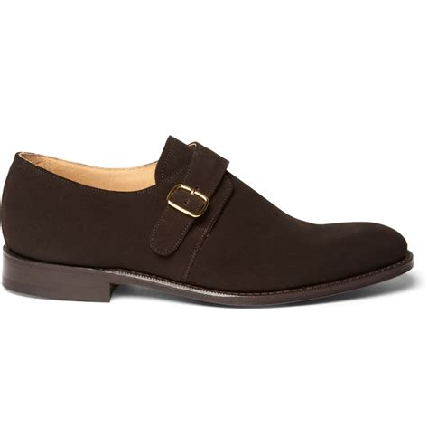 church s suede bton monk shoes in brown for