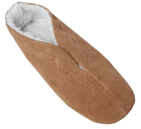 slippers size 3 boys suede leather faux sheepskin lined shoes
