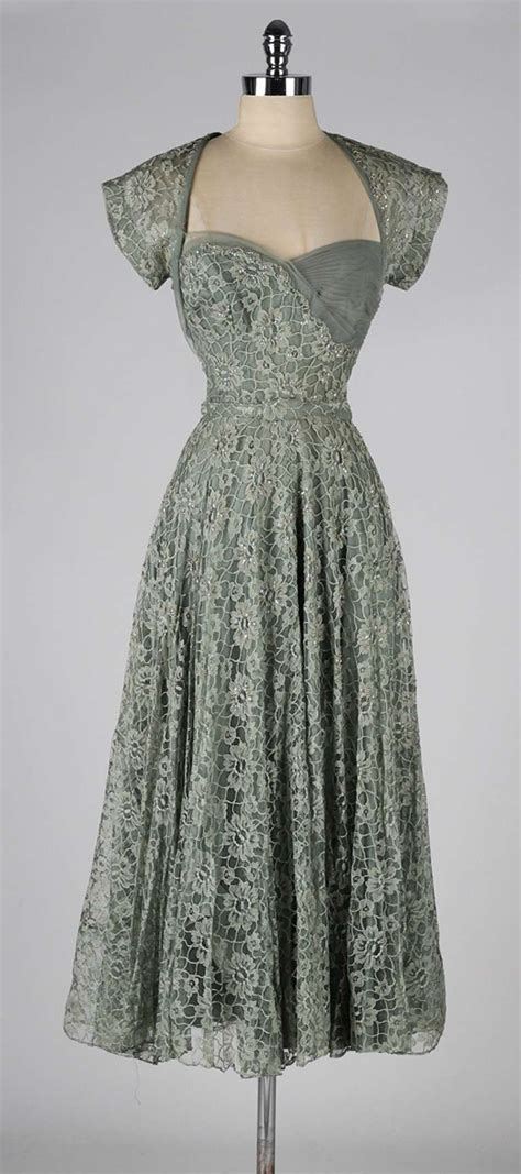 Country Home Decor Pinterest by Vintage 1940 S Sage Green Lace Cocktail Dress At 1stdibs