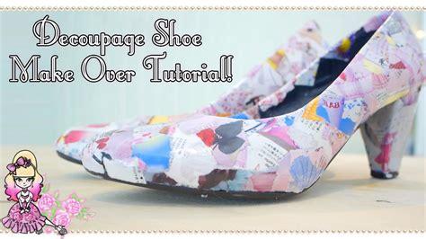 decoupage shoes tutorial how to make decoupage magazine shoes craft tutorial