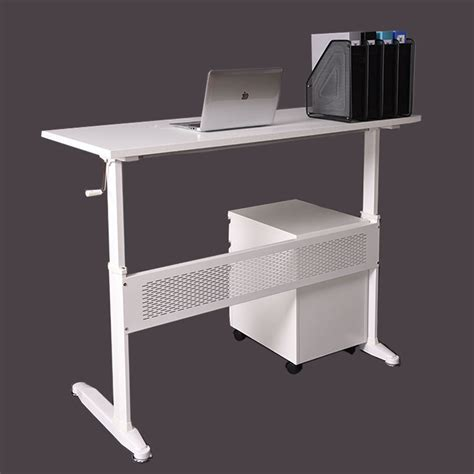 Height Adjustable Desk Office Home Workstation Computer Adjustable Height Computer Desk Workstation