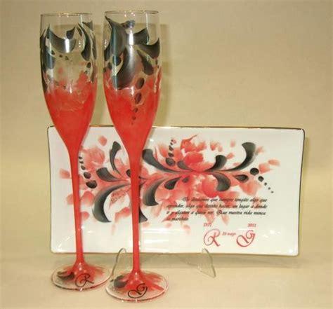 como decorar para bodas de rubi copas para brindar en unas bodas de rubi rojo