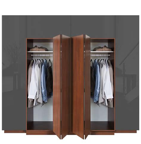 Closet Folding Doors Hawthorne Wardrobe His Closet With Bifold Folding Doors Contempo Space