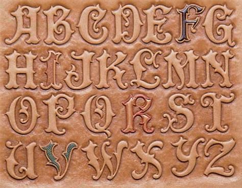 Engraving Letter Templates by Acorn Carving Oak Pattern 171 Free Knitting Patterns