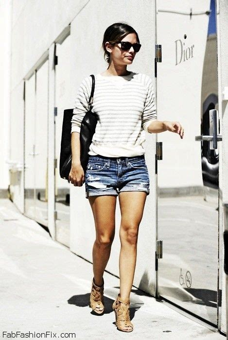 8 Chic Bilson Looks by Style How Wear Denim Shorts For Summer