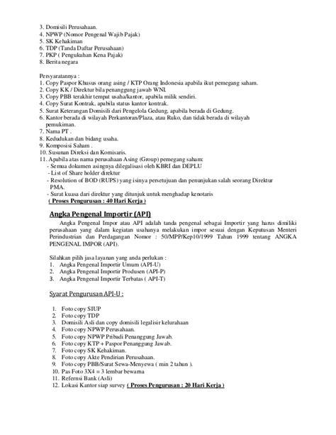 format surat kuasa pengurusan imb biro jasa pengurusan dokumen perusahaan