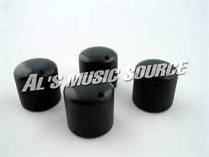4 black guitar knobs or bass fits ibanez shecter cort ebay