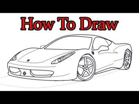 ferrari 458 sketch full download let s draw ferrari 458 italia